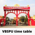 VBSPU Time Table 2020 Pdf Download