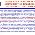 Which of the following is NOT a Prerequisite to Pass a DD Form 626 Inspection