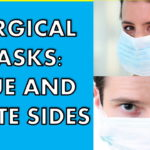 How to Wear Face Mask Properly Blue, White: Prevents the Spread of Disease