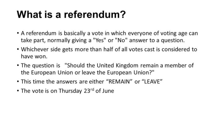 What is the Referendum?