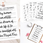 Modern Calligraphy Practice Sheets PDF Free Download
