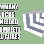 How Many Blocks Are Needed To Complete The Cube Answer